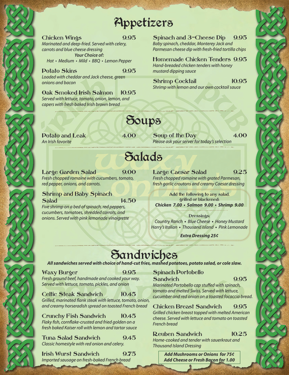 These menu items are made using gluten-free ingredients based on information from our suppliers. However, due to our current kitchen space, only the pizzas listed on our separate Gluten-Free pizza menu can be prepared using GIG's certified procedures.